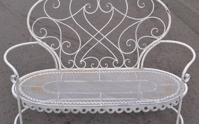 Ornate French style garden 2 seater seat - classy!