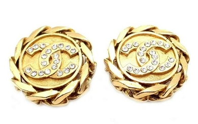 Authentic Chanel France Vintage Large Gold Tone Clip on