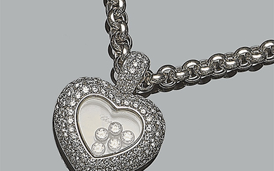 Solid chain and pendant in white gold from CHOPARD…