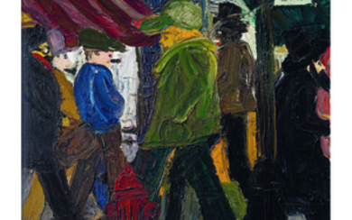 Red Grooms (b. 1937), Eighth Avenue