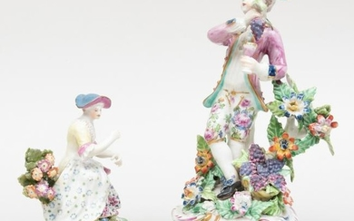 Bow Porcelain Figure Emblematic of Autumn and a Figure