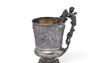 An English silver christening cup