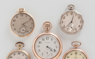 Five Hamilton Watch Co. Watches