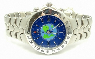 SHARP! AUTHENTIC EBEL STAINLESS STEEL BLUE DIAL