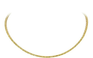 A Yellow Diamond Necklace