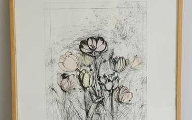 "Jim Dine Etching ""A Temple of Flora"""