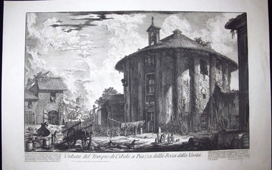Piranesi, Giovanni: TEMPLE OF CIBELE NEAR BOCCA DELLA VERITA, Year 1758.