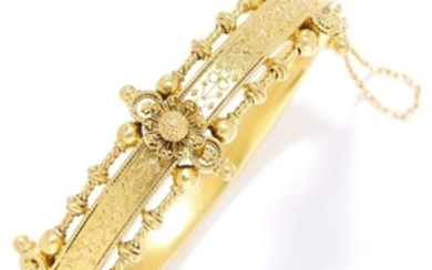 ANTIQUE BANGLE, 19TH CENTURY in high carat yellow gold