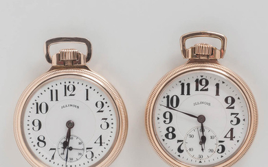 """Two Illinois Watch Co. Sixty-hour """"Bunn Special"""" Watches"""