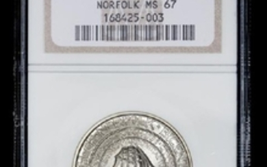 A United States 1936 Norfolk Commemorative 50c Coin