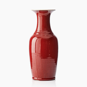 A Chinese red-glazed vase