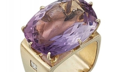 An amethyst and diamond ring, by H...