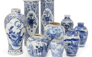 A collection of Chinese and Japanese underglaze...