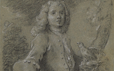 FRENCH SCHOOL, 18TH CENTURY Portrait of a Man with a Parakeet.