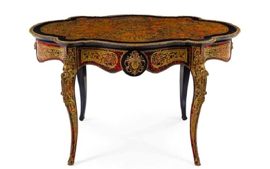 A Napoleon III Style Boulle Marquetry Table