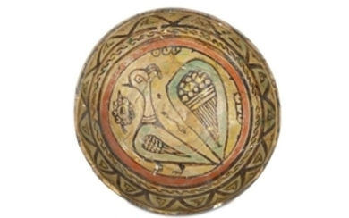 A NISHAPUR BUFFWARE POTTERY BOWL Iran, 10th centur