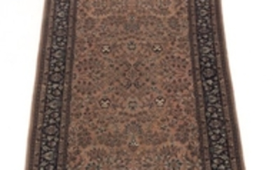 Hand-Knotted Wide Sarouk Runner