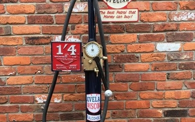 An Avery Hardoll model CH1 one gallon hand-cranked petrol pump,