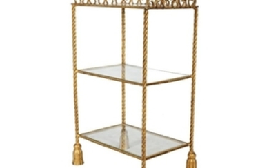 Gilt Iron Rope Tassel Table
