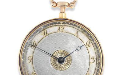 LeRoy, A Paris. A continental gold and enamel key wind open face quarter repeating pocket watch