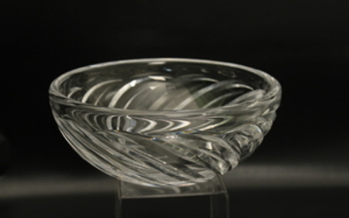 SIGNED FRENCH HAND CUT GLASS BOWL