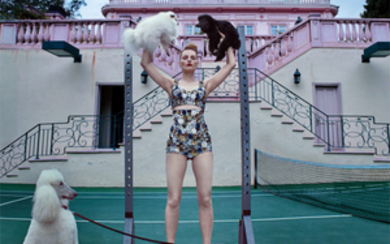 Steven Klein, Guinevere at the Pink Mansion, Beverly Hills