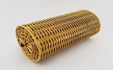 Tiffany & Co. Schlumberger Woven Cylinder Box