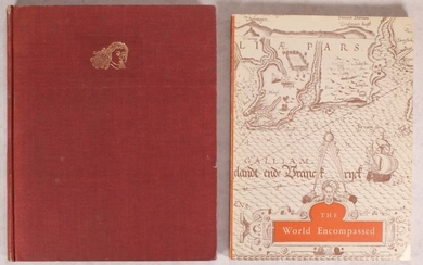 """[Lot of 2] Decorative Printed Maps of the 15th to 18th Centuries [and] The World Encompassed..."""