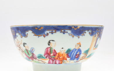 Chinese Qianlong porcelain bowl for export, mid 18th Century.