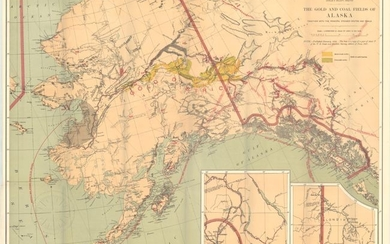 """The Gold and Coal Fields of Alaska Together with the Principal Steamer Routes and Trails"", U.S. Geological Survey (USGS)"