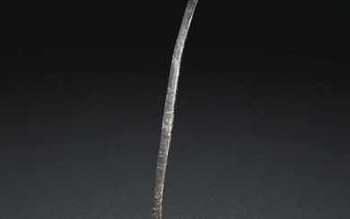 A TINNED-BRONZE LADLE, SIX DYNASTIES PERIOD (AD 222-589)
