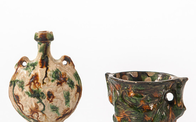 Sancai Flask and Cup