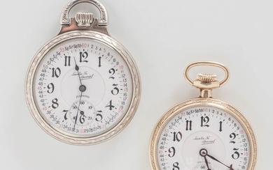 "Two Illinois Watch Co. ""Santa Fe Special"" Open-face Watches"
