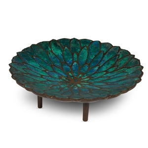 A Pepe Mendoza petal bowl 20th century Enameled bronze....
