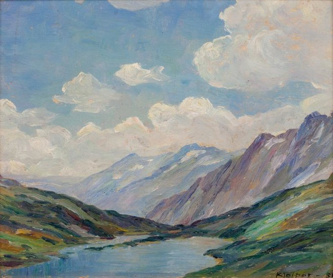 Hans Kleiber (German/American, 1887-1967) Wyoming Lake,