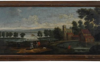 British School Over Mantel Painting