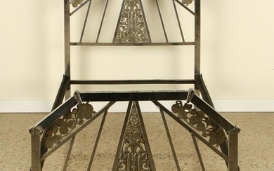 TWIN SIZE ART DECO CHROME IRON BED C. 1930