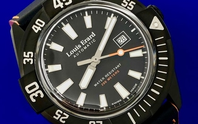 Louis Erard - Automatic Diver Watch Sportive Collection Black Dial Swiss Made - 69107NN12.BVDN57 - Men - Brand New
