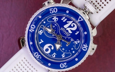 "GaGà Milano - Chrono Sport 45MM Blue ""NO RESERVE PRICE"" - 7010 - Unisex - BRAND NEW"