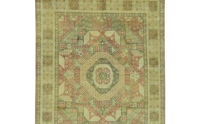 Hand-Knotted Pure Wool Mamluk Design Oriental Rug