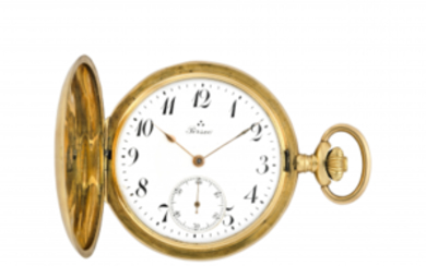 PERSEO Gent's 18K gold savonnette pocket watch Early 20th...
