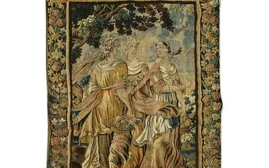 17th Century Franco-Flemish Allegorical Tapestry.