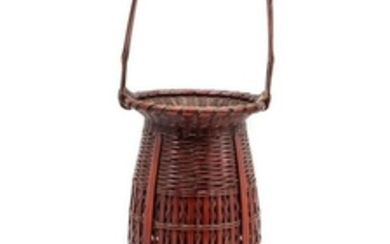 A Tall Handled Basket Height over handle 19 1/