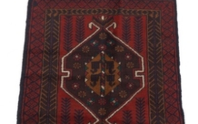 Semi-Antique Hand-Knotted Balouch Carpet