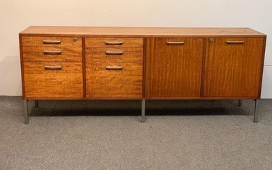 Florence Knoll-style Walnut Credenza