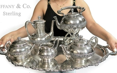Large Sterling Silver Tiffany & Co Tea Set