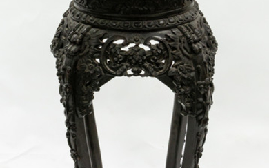 A FRENCH CHINOISERIE WOOD GUERIDON, EARLY 20TH CENTURY