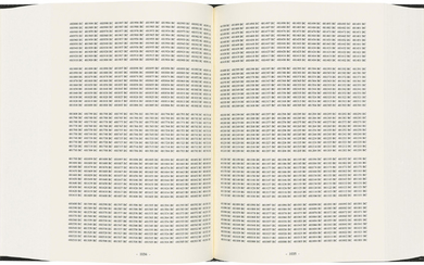 ON KAWARA (1932-2014), One Million Years: Past – For all those who have lived and died & Future – For the last one
