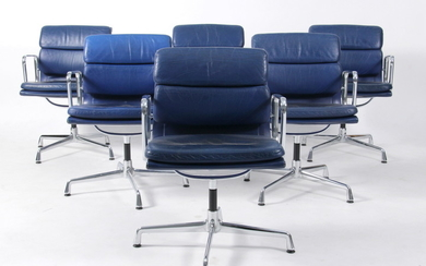 Charles Eames. Soft Pad lounge chairs, Model EA-208 (6)