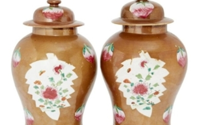A pair of Chinese porcelain Batavian ware...